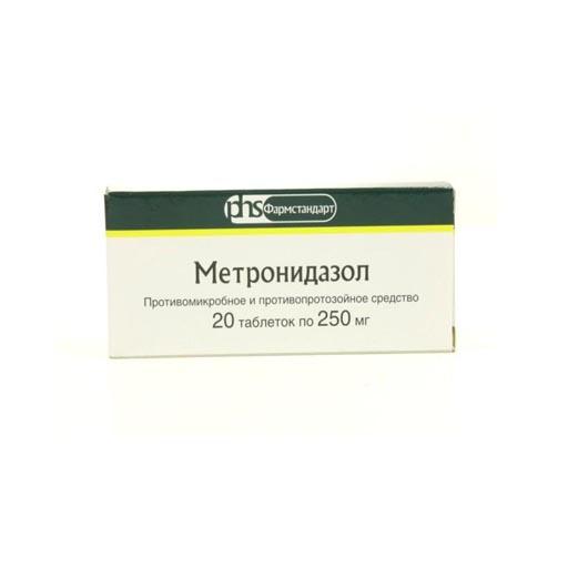 МЕТРОНИДАЗОЛ ТАБ. 0,25Г №20