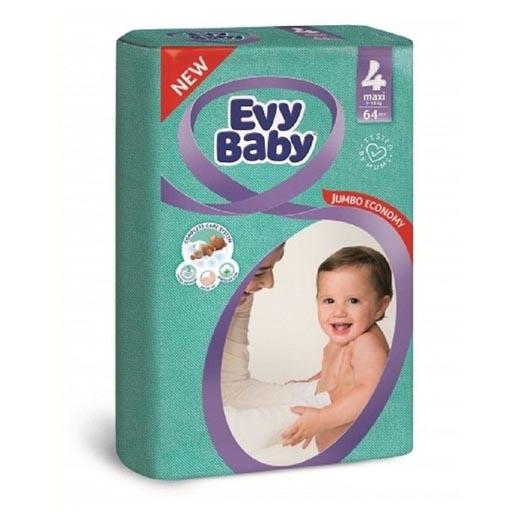 ПОДГУЗНИКИ EVY BABY GIANT ECONOMY Р-4 7-18КГ