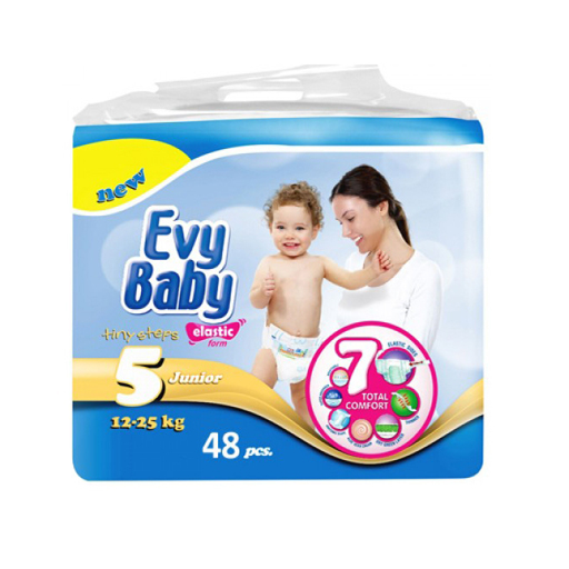 ПОДГУЗНИКИ EVY BABY JUMBO JUNIOR 5 11-25 КГ №48