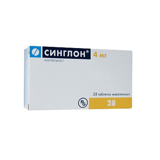 СИНГЛОН 4МГ ЖЕВ ТАБ №28