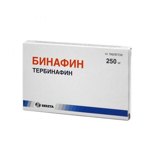 БИНАФИН Таблетки 250 мг N14